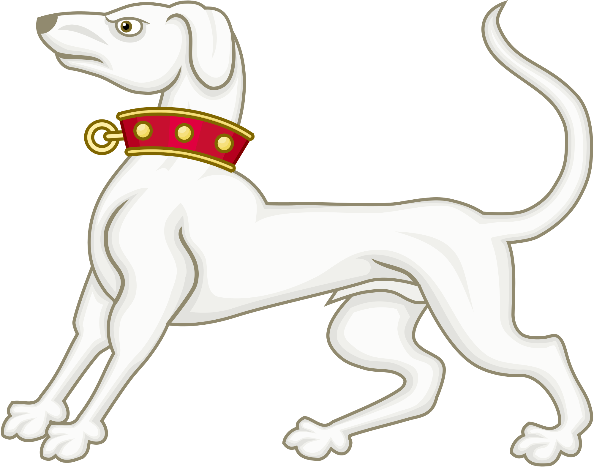 Greyhound vector dog. File of richmond badge