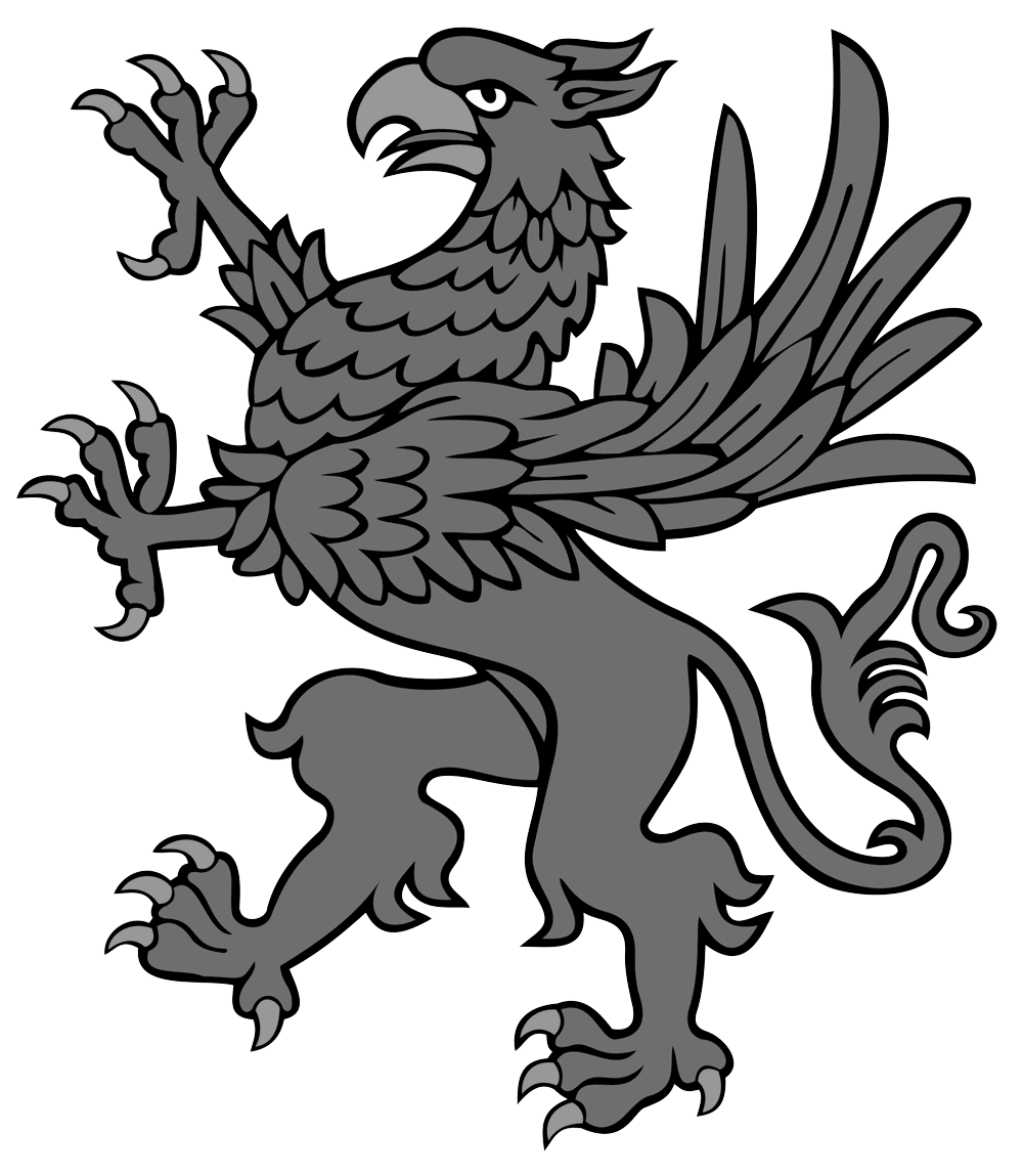 Gargoyle vector mythology. Grifo the portuguese word