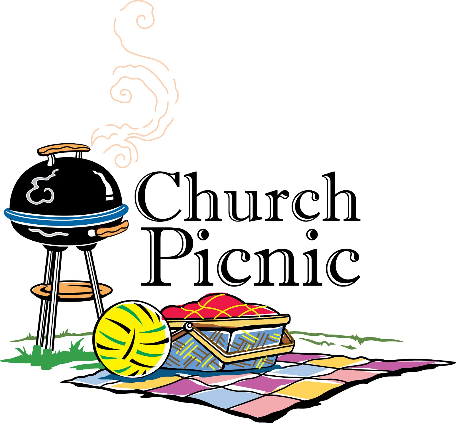 Grilling clipart group picnic. Church images panda free