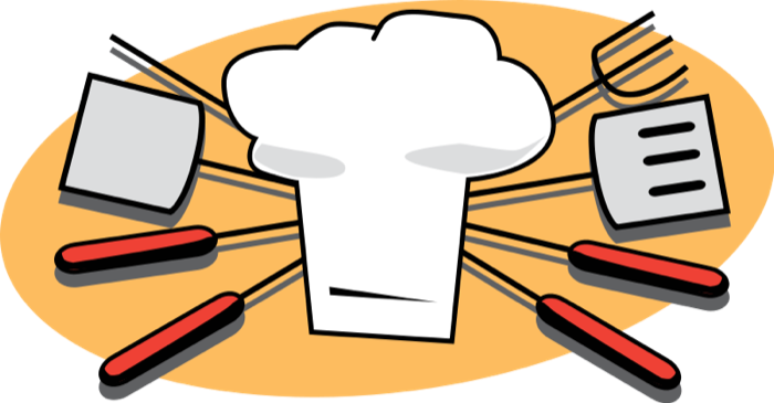 Grill clipart kitchen. Cooking baking supplies outside
