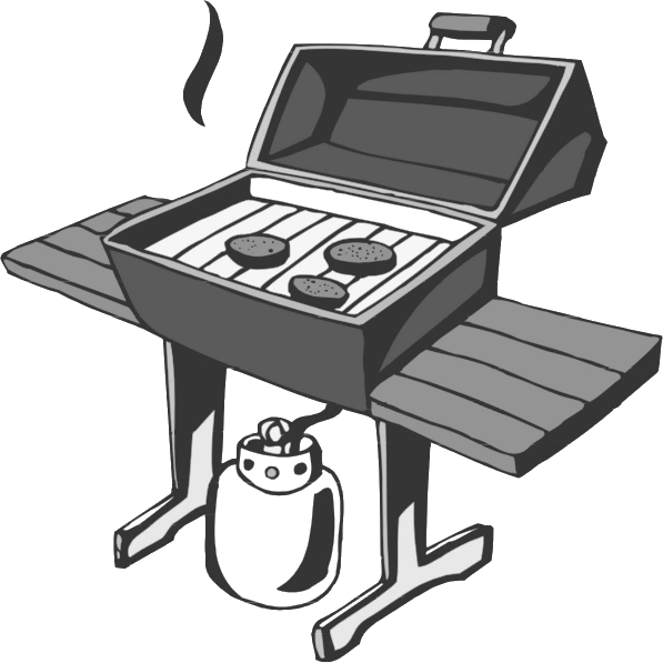 Bbq clip art butane. Grill clipart outdoor grill graphic black and white download