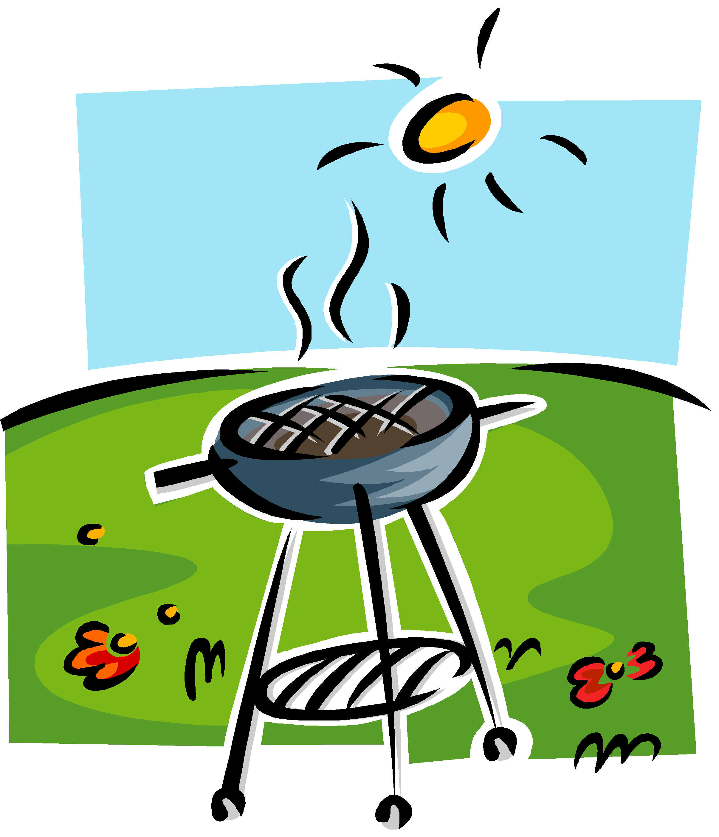 Grill clipart outdoor grill. Bbq drawing at getdrawings