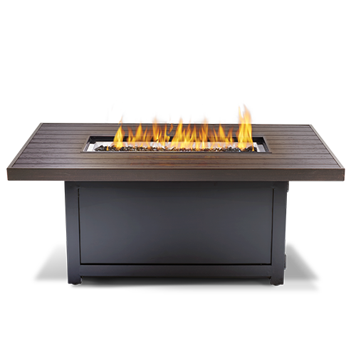 Transparent grill flame. Outdoor fire tables and