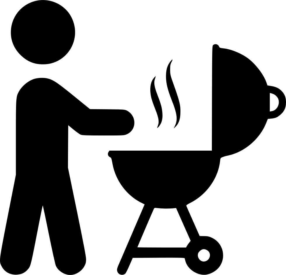 Grill icon png. Person grilling svg free