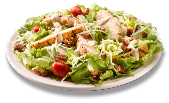 Grilled chicken salad png. Bacon caesar supreme ready