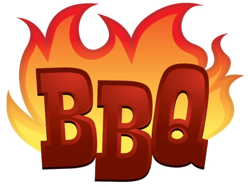 Words clipart bbq. Barbeque word physic minimalistics
