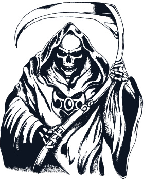 Grim reaper clipart. Silhouette pinterest and images