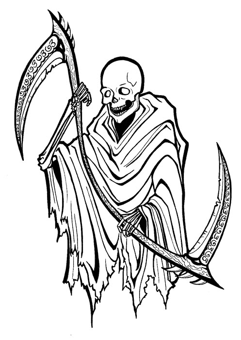 grim reaper clipart gream