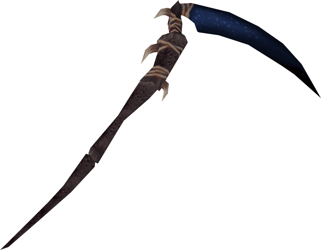 Transparent death scythe