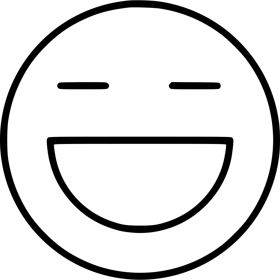 Grin drawing. Svg png icon free