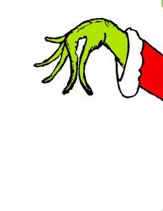 Free printable coloring pages. Grinch clipart arm banner black and white library