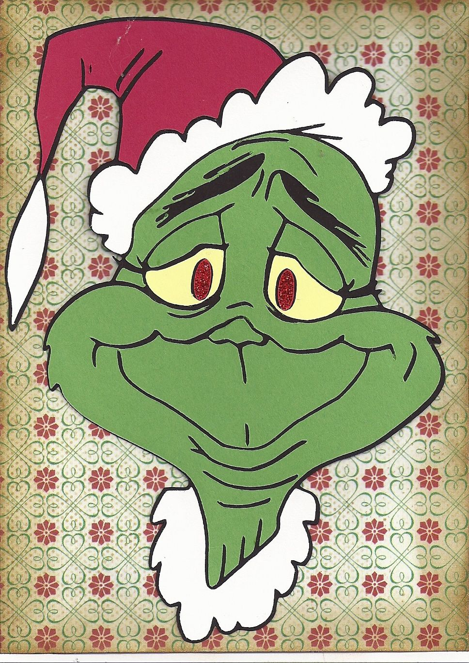 Grinch clipart broken ornament. The christmas card made
