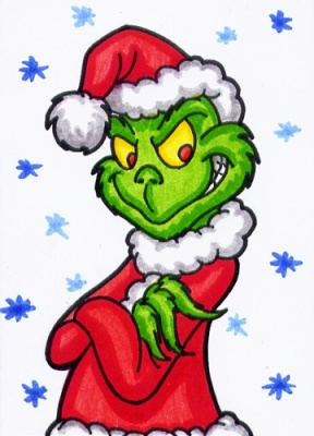 Grinch clipart door. Face at getdrawings com