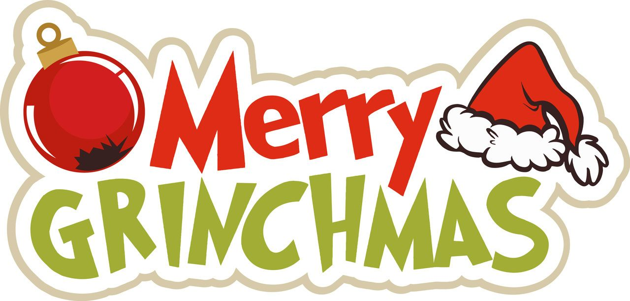 Grinch clipart grinchmas. Ppbn designs merry title