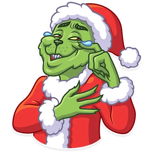 Grinch png. Stickers set for telegram