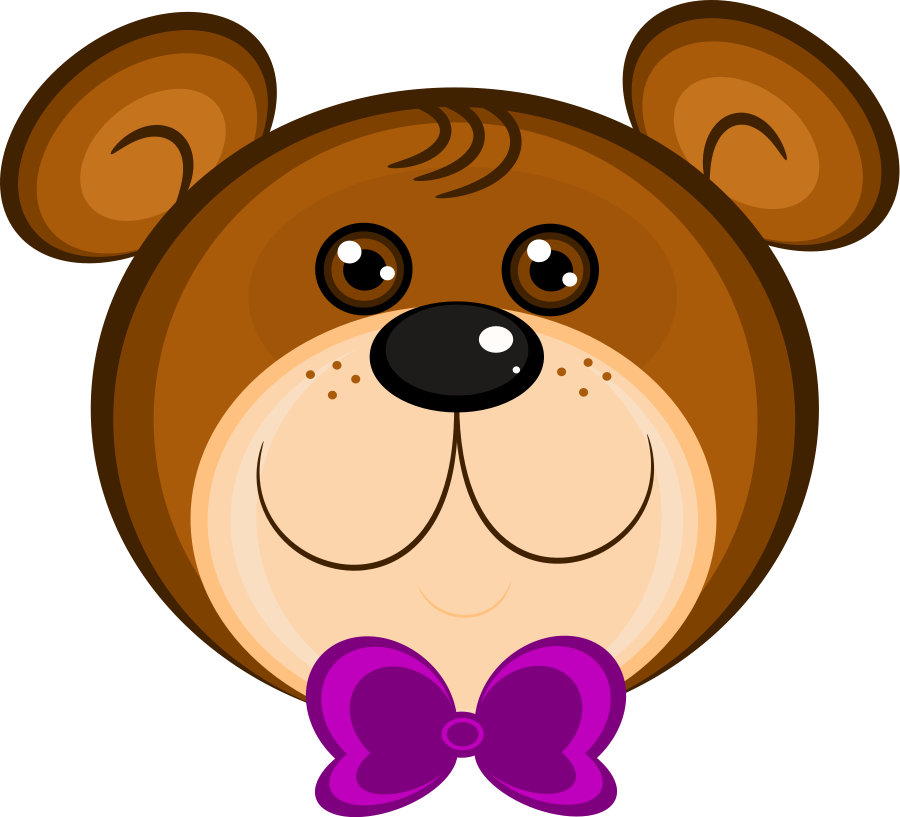 Grizzly drawing cute. Free bear clipart download