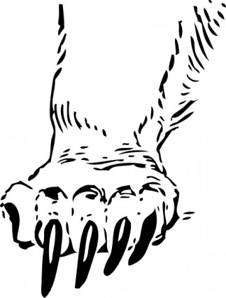 Grizzly clipart bear claw. Paw clip art panda