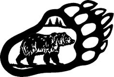 Grizzly clipart bear claw. Clip art silhouette images