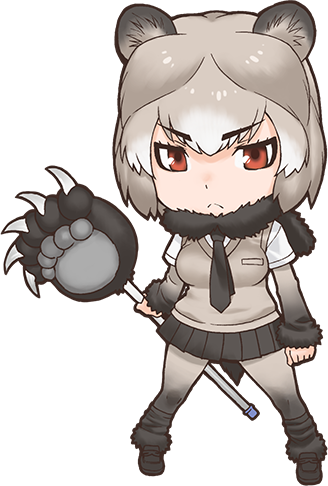 Grizzly drawing forest. Bear japari library the