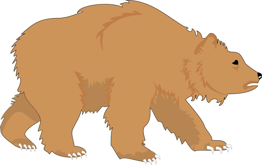 Free cliparts download clip. Grizzly drawing fierce vector library library