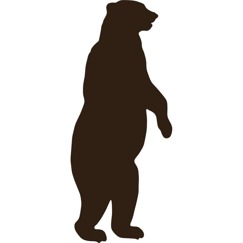 Grizzly clipart polar bear. Standing silhouette images room