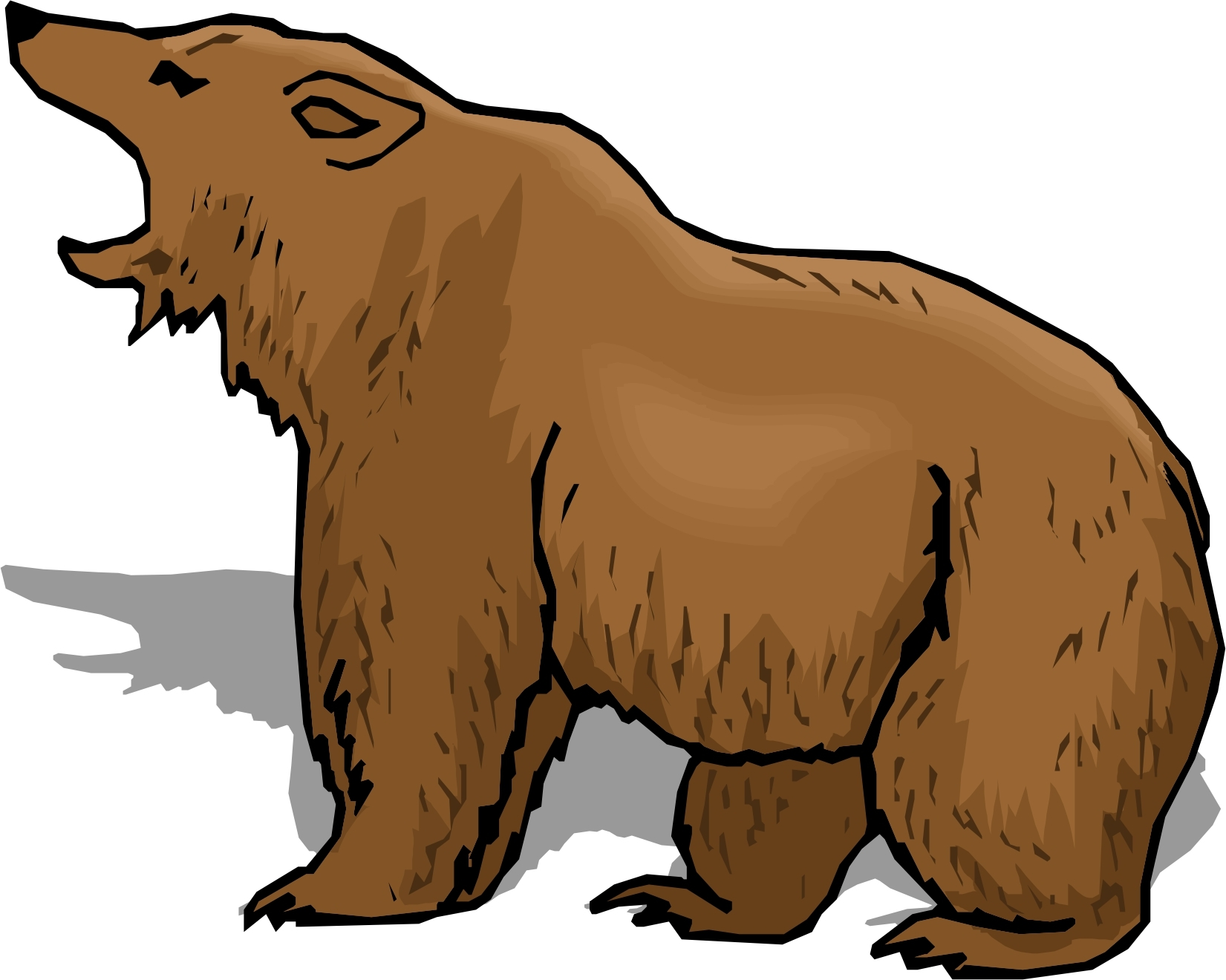 Unique design digital collection. Grizzly clipart simple bear svg black and white