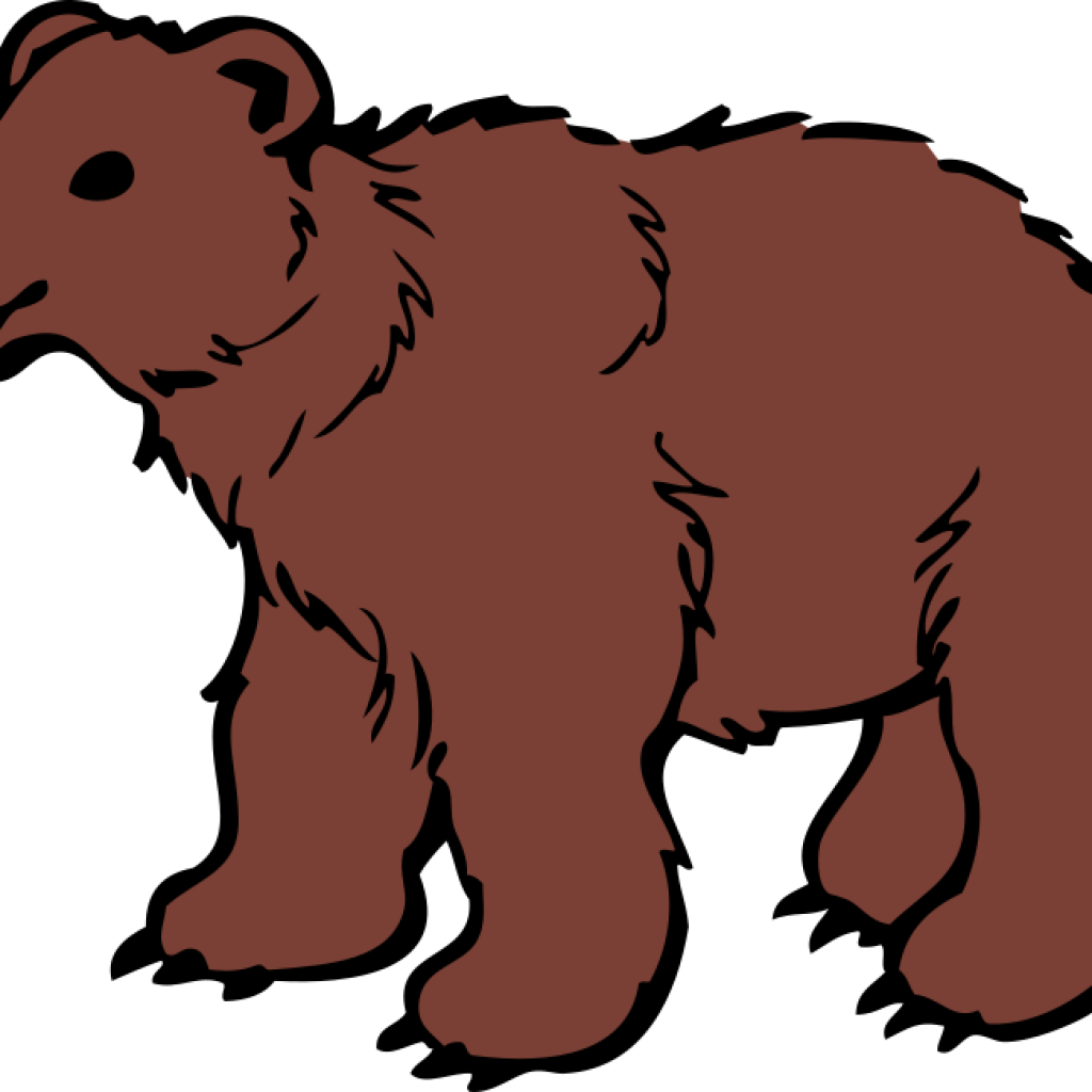 Bear cliparts free clipart. Grizzly drawing fierce banner free stock