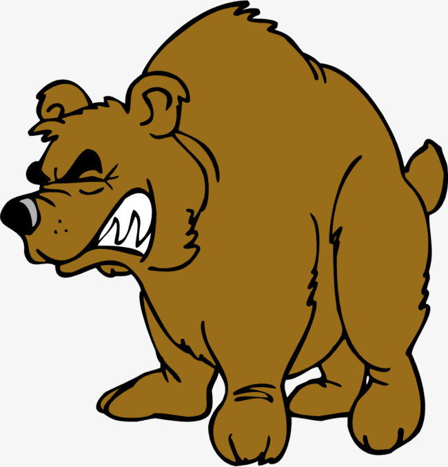 Grizzly clipart simple bear. Brown cartoon clip art