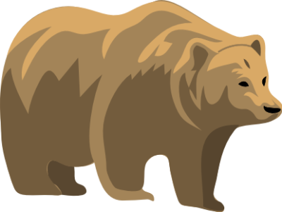 Grizzly clipart simple bear. Free doodles pinterest bears