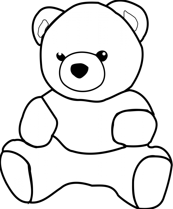 Grizzly drawing cute. Adorable bear drawings cartoon