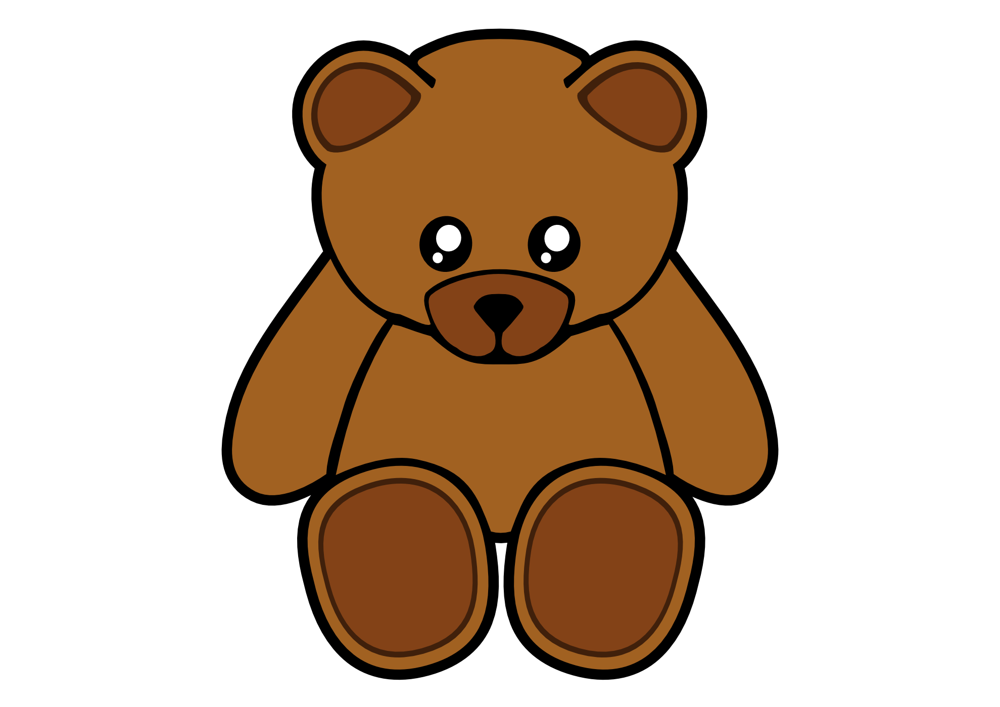 Grizzly drawing cute. Bear clipart at getdrawings