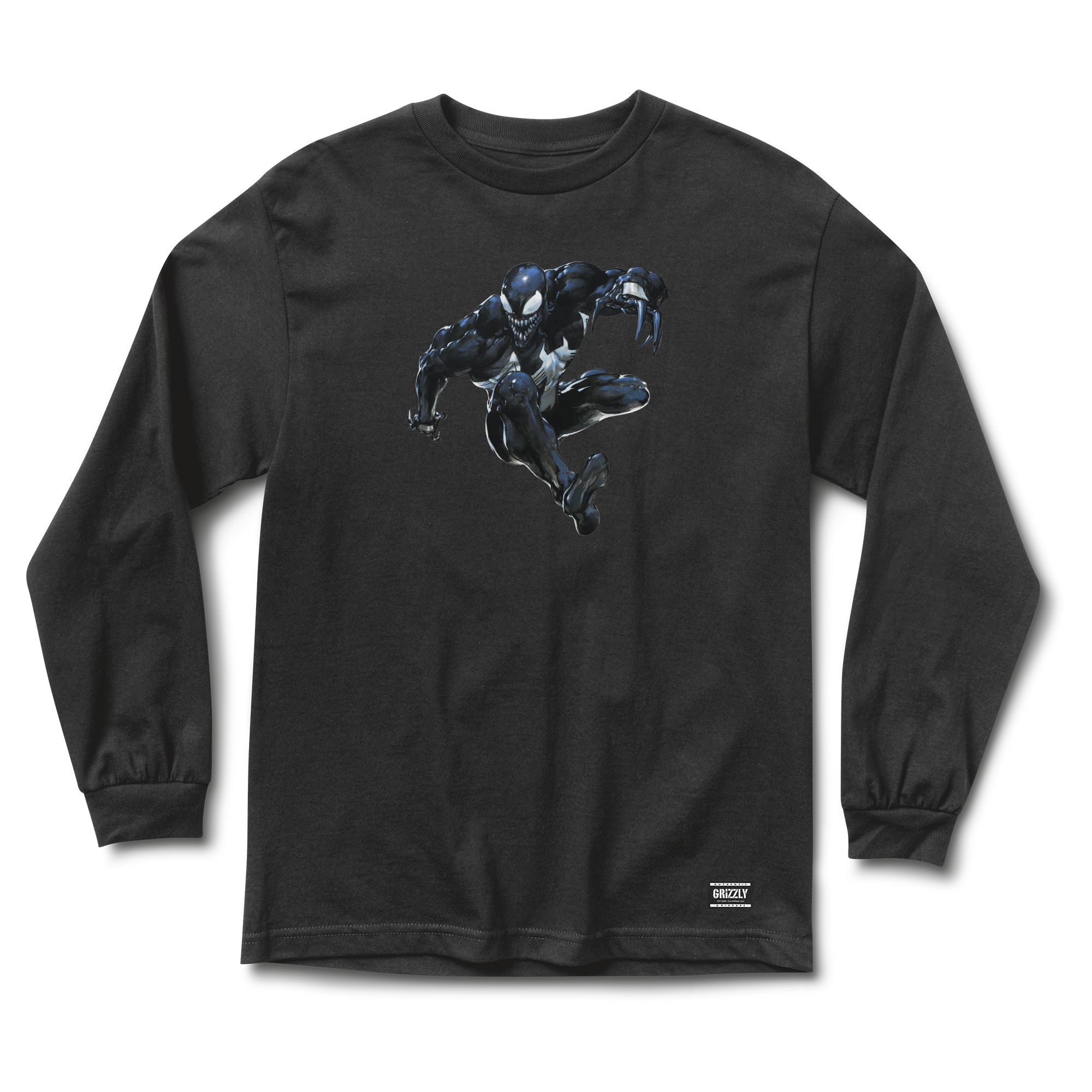 Grizzly drawing design. Griptape venom long sleeve