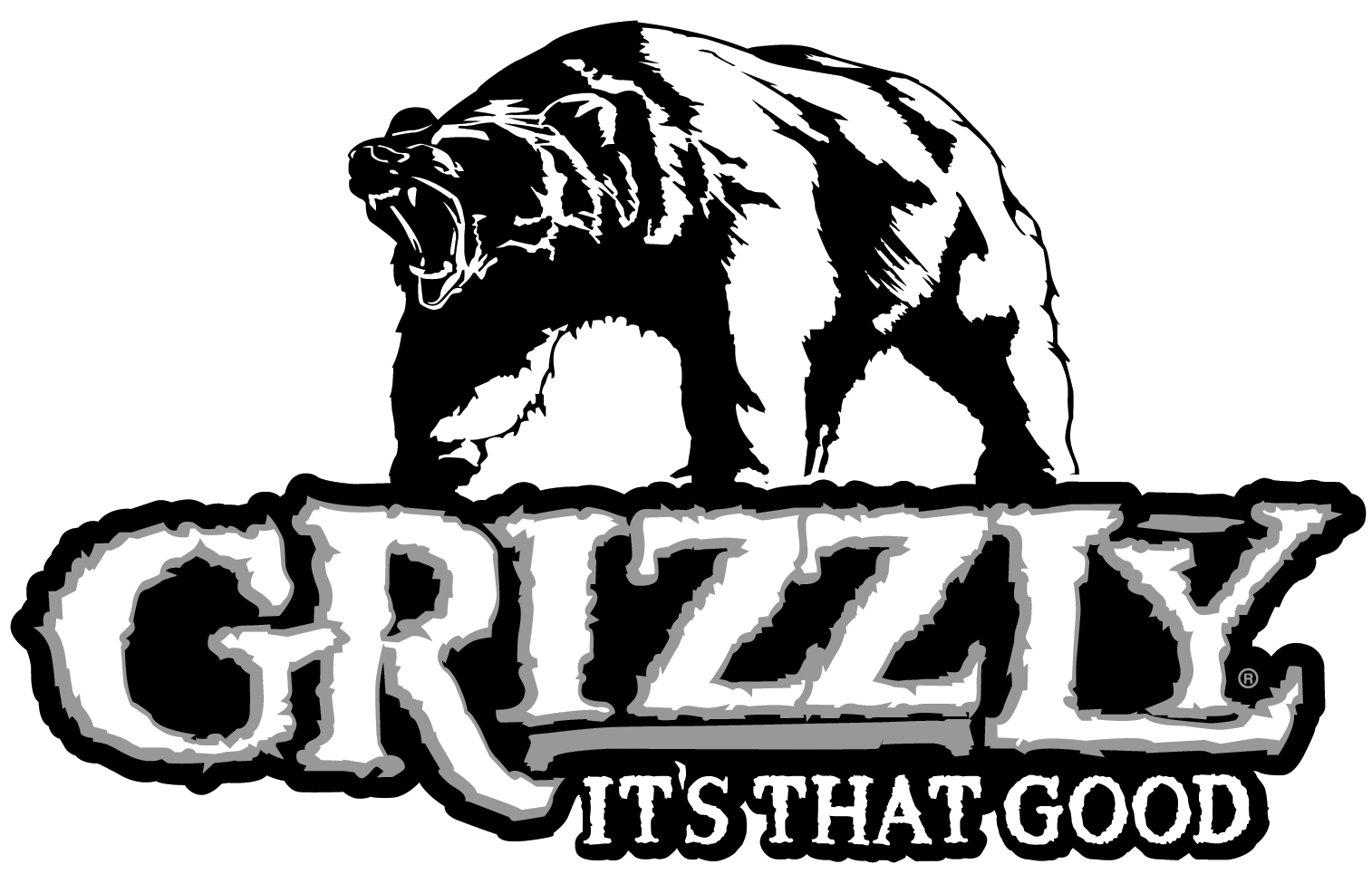 Grizzly drawing symbol. Tobacco logos