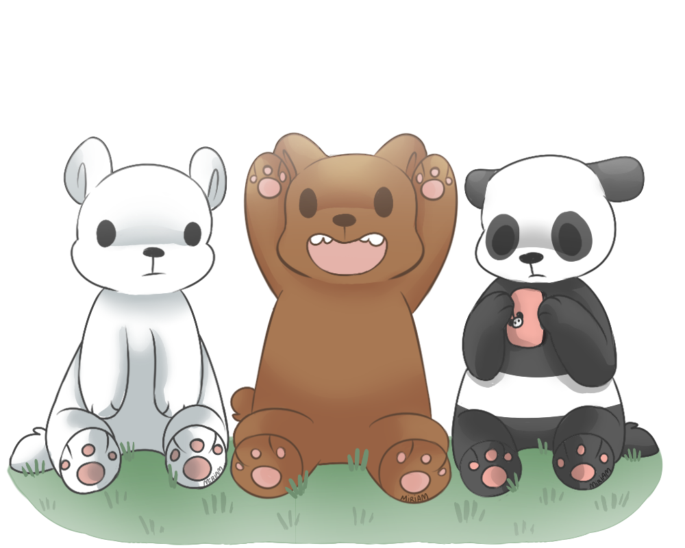Grizzly drawing we bare bears. Adorable bear created by