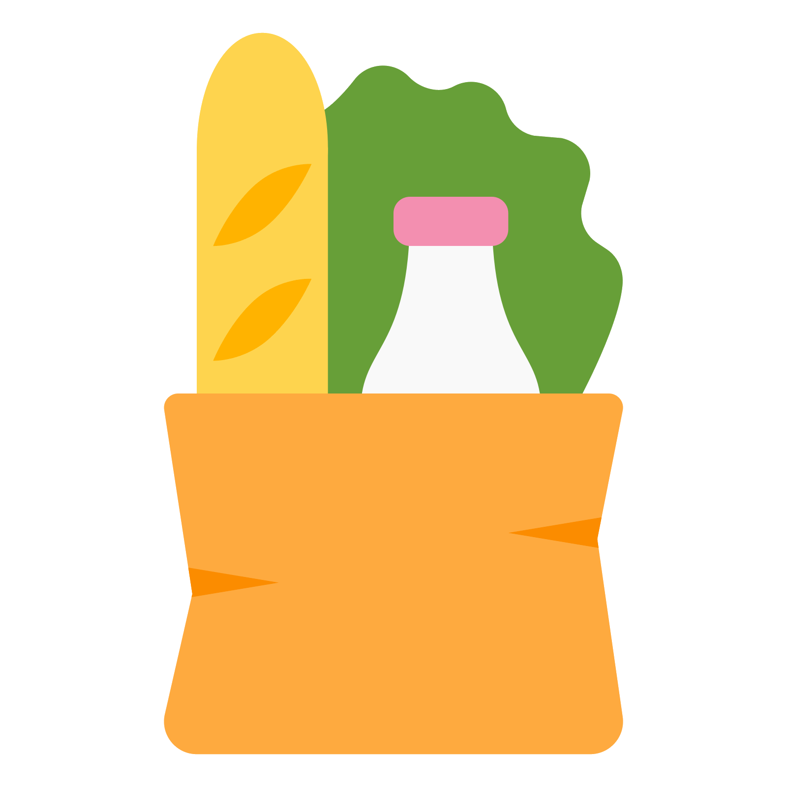 Groceries vector. Grocery bag icon free
