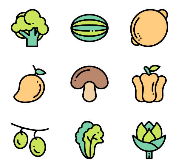 Shelf vector food. Supermarket icons free fruits