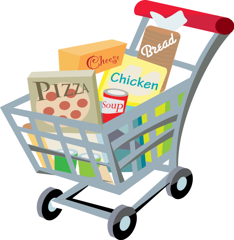 Trolley vector svg. Supermarket library download