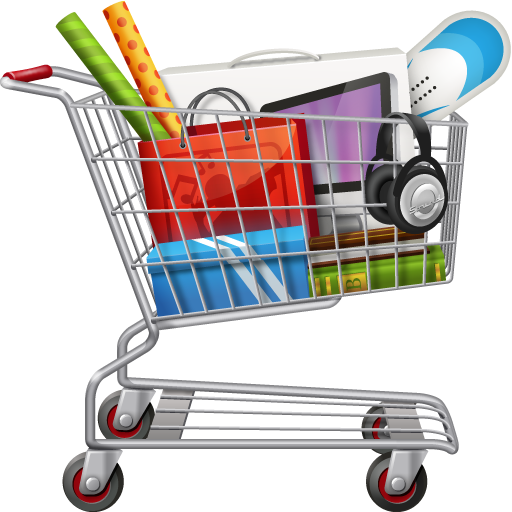 Groceries vector full shopping bag. Supermarket library download