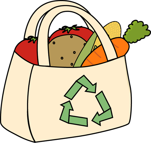 Collection of free groceries. Vector vegetables bag svg free stock