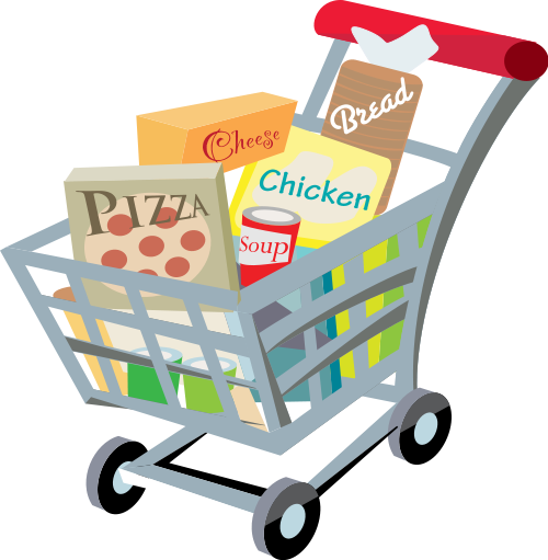 groceries vector basket goods
