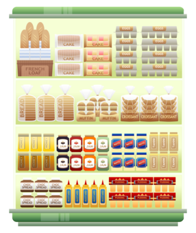 shelf vector shopping