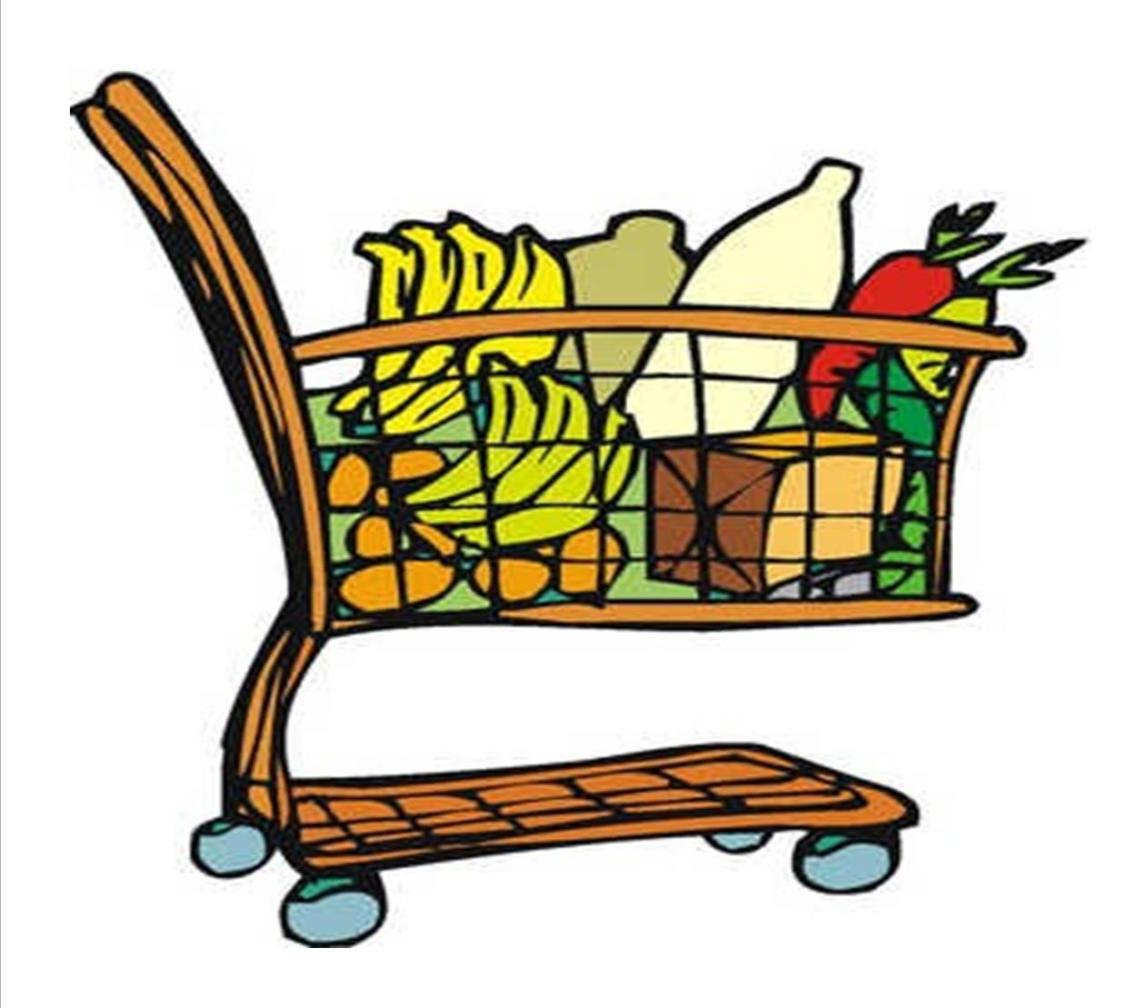 grocery clipart trolley