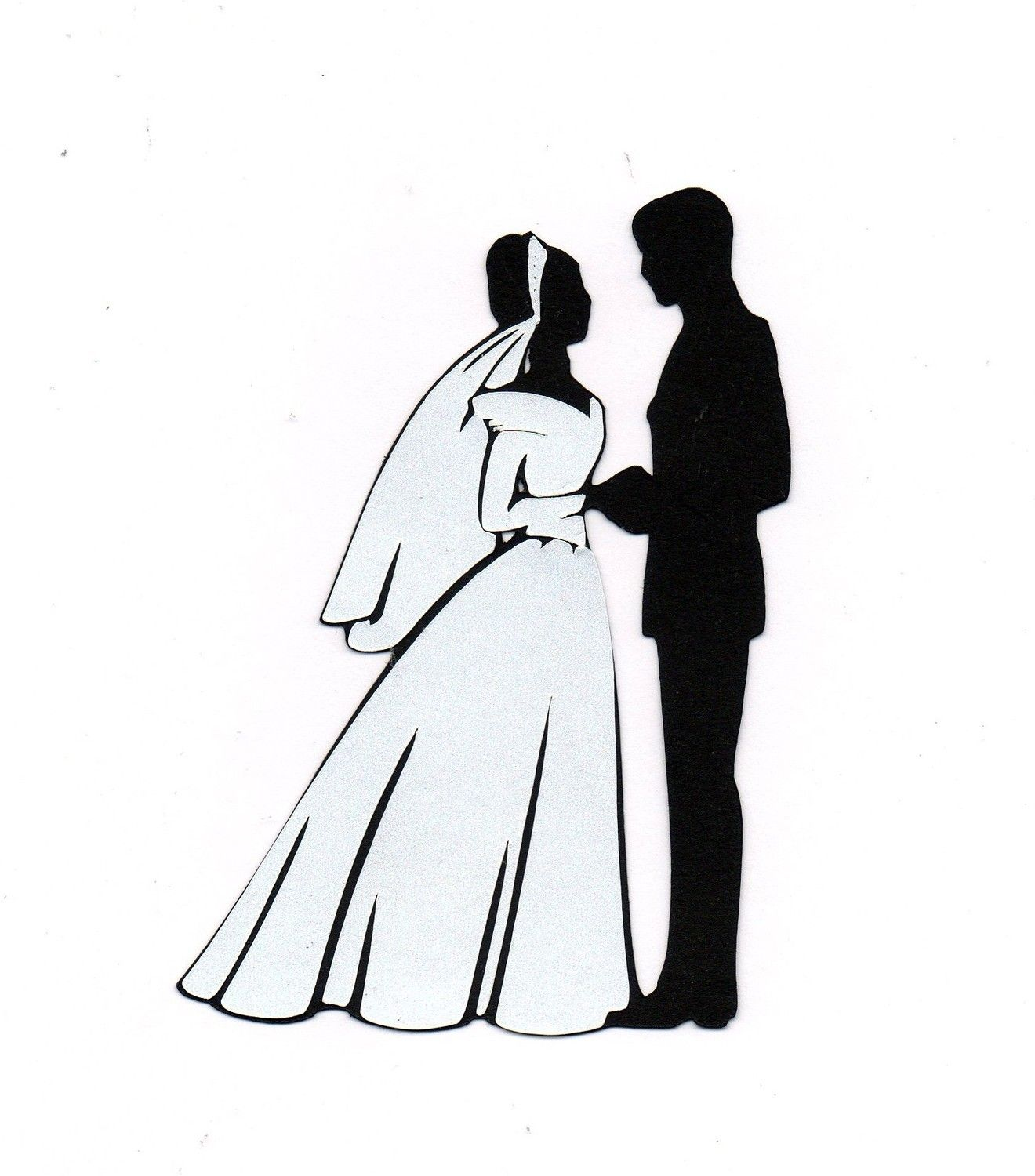 Groom clipart clip art. Bride silhouette at getdrawings