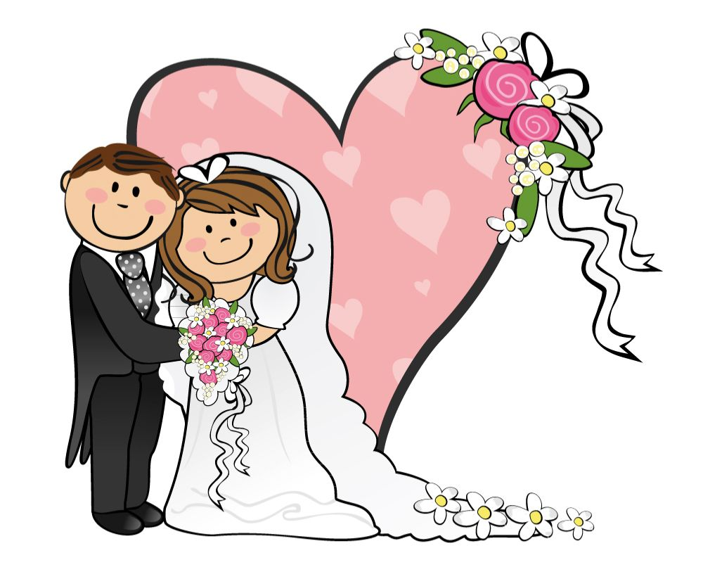 Bridal clipart bride groom. Cartoon funny and best
