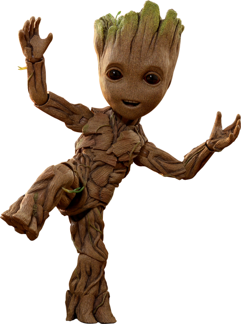 Groot png marvel. Life size figure by