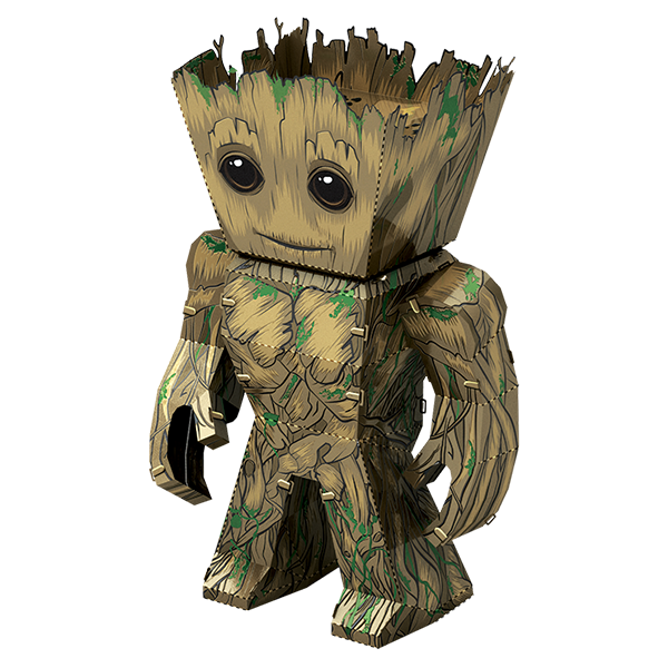 Groot svg guardians. Fascinations metal earth d