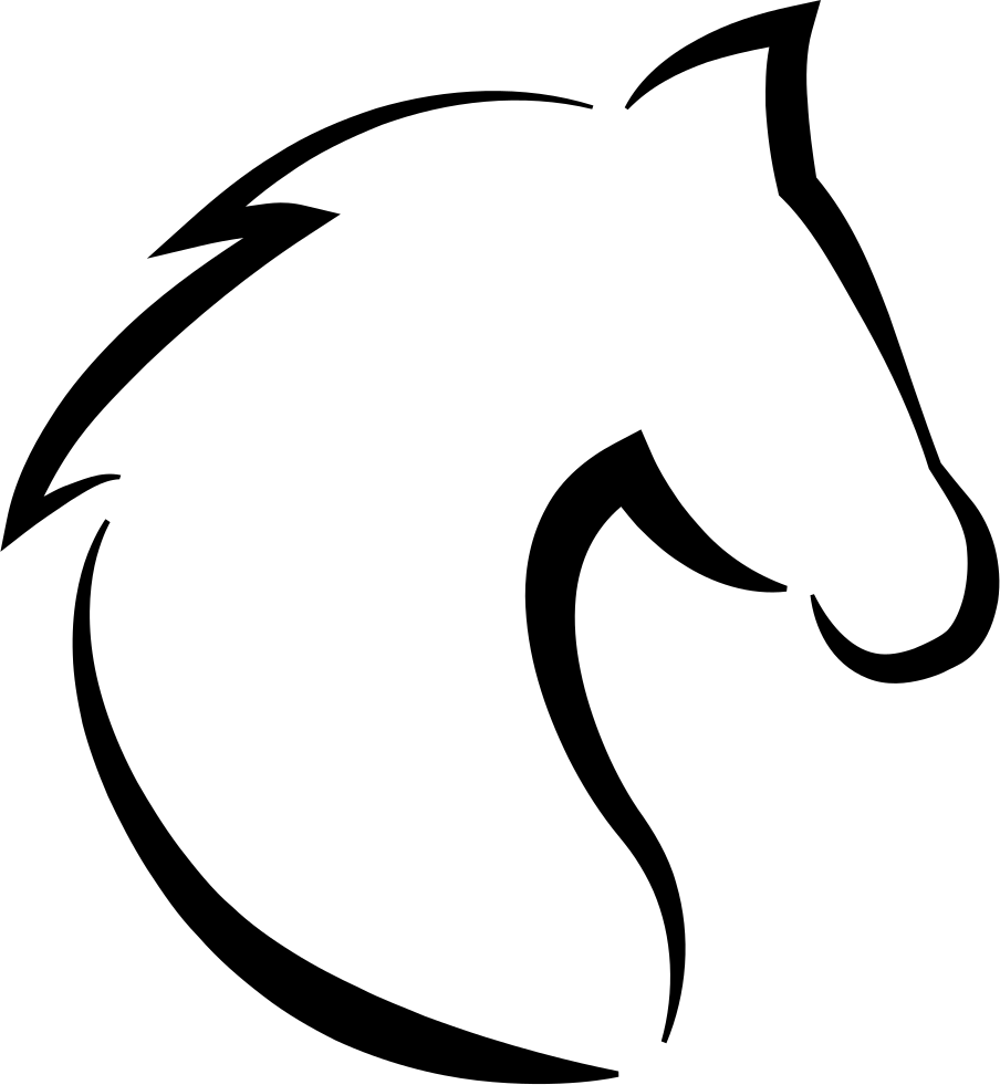 Groot svg outline. Horse head with hair