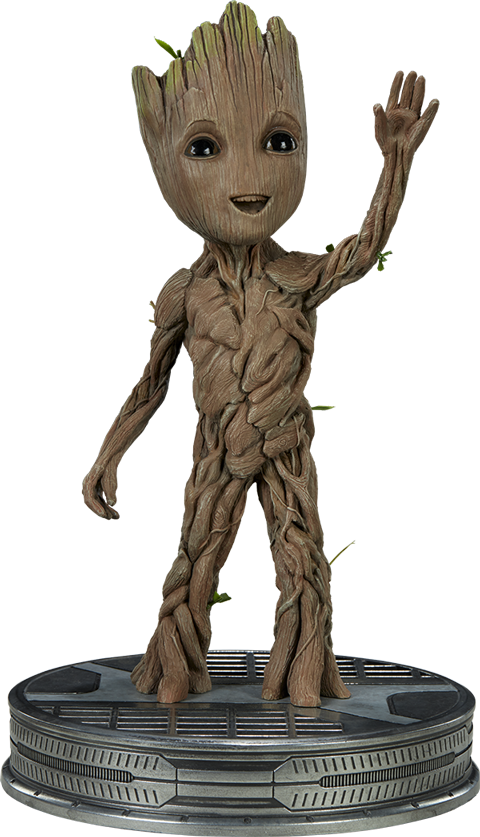 Groot transparent collectible. Baby maquette sideshow collectables