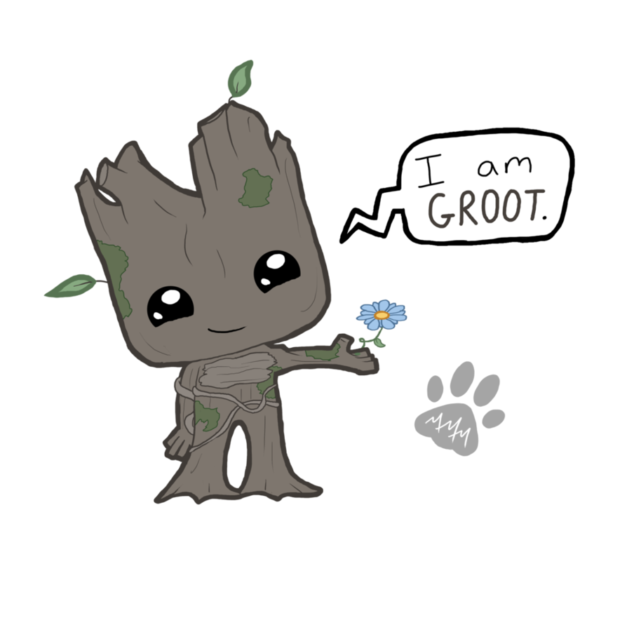 Drawing marvel groot. Chibi pinterest baby and