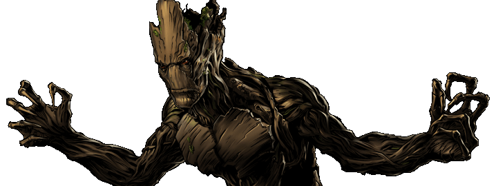 Groot transparent marvel avengers alliance. Image dialogue right png